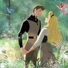 Princess Aurora as Briar Rose and Prince Philip in Once Upon a Dream Walt Disney, Disney Pixar, Disney Couples, Disney Girls, Disney And Dreamworks, Disney Animation, Disney Love, Disney Magic, Images Disney