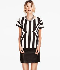 HMUSA Latest Vertical Stripes Top. See this pattern on Body Fitting Dress as well.