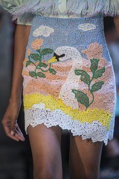 Vivetta at Milan Fashion Week Spring 2019 - Details Runway Photos Vivetta, Milano Fashion Week, Comfortable Outfits, Fashion Details, High Fashion, Milan Fashion, Lace Shorts, Cool Outfits, Runway