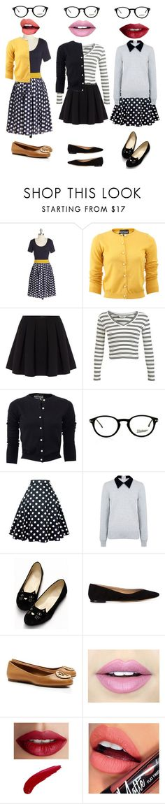 """""""Jessica day from NEW GIRL"""" by aribear12 ❤ liked on Polyvore featuring Boutique Moschino, Polo Ralph Lauren, Miss Selfridge, Edit, Chloé, Tory Burch, Fiebiger and TheBalm"""