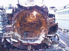 Remains of the Russian Submarine Kursk submarine. With All hands lost on board