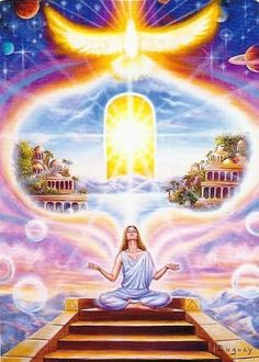 We are Divine Beings Deserving of the Highest and Best ~ Art Visionnaire, Twin Flame Reading, Les Chakras, Ascended Masters, Mario, Visionary Art, Oracle Cards, Sacred Art, Sacred Geometry