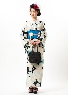 いちおしコーディネート|きもの&ZAKKA * ふりふ Traditional Japanese Kimono, Yukata Kimono, Japanese Costume, Summer Kimono, Cotton Kimono, Kimono Pattern, Ao Dai, Japanese Fashion, Color Trends