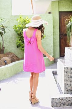 The Sweetest Thing: Hot Pink Shift Dress