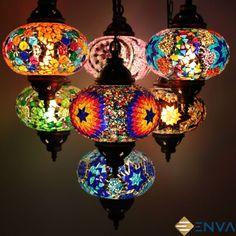 Handmade Turkish Moroccan Style Mosaic Hanging Lamp Ceiling Light 7 Large Globe   Home, Furniture & DIY, Lighting, Lamps   eBay!
