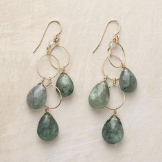 Beautiful moss aquarmarine earrings: Sundance jewelry - Thoi Vo