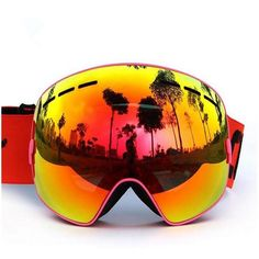 99009b9330 2017 New Brand Outdoor Sports Ski Goggles Lenses Anti-Fog UV Ski Mask  Skiing Men Women Snow Snowboard Skiing Goggles