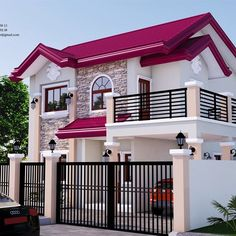 House Roof Design, House Outside Design, 2 Storey House Design, Two Story House Design, Home Building Design, Bungalow House Design, Facade House, Modern Exterior House Designs, Modern House Facades