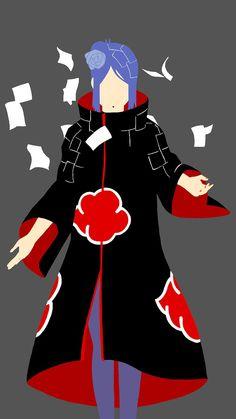 A minimalist illustration of Konan. Disclaimer: Konan and Naruto belong to Masashi Kishimoto. Sasunaru, Naruto Uzumaki, Naruto Sasuke Sakura, Kakashi Hatake, Itachi, Boruto, Akatsuki, Anime Echii, Anime Naruto