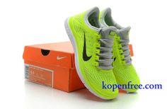 Goedkoop Schoenen Nike Free 3.0 V5 Dames (kleur:vamp-geel;logo-