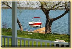 The Boathouse: a new definition to lakefront living! Boat Hoist, Boat Dock, Lakefront Property, Rustic Design, Great Places, Outdoor Decor, Photos, House, Landscape Rake