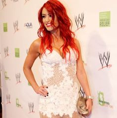 WWE Diva Eva Marie--LOVE the red hair!!