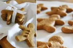 The best Gingerbread Dog Treat Recipe of all time. Super easy to make, healthy, dog-safe ingredients and tasty! Grab the FREE recipe here. Dog Treat Recipes, Dog Food Recipes, Cookie Recipes, Puppy Treats, Puppy Food, Gingerbread Dog Treats Recipe, Dog Cakes, Homemade Dog Treats, Dog Snacks