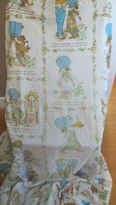 Vintage Holly Hobbie Fitted Sheet Full Double by AStringorTwo