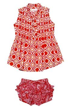 MASALABABY 'Dhun' Cotton Top & Bloomers (Baby Girls) available at #Nordstrom