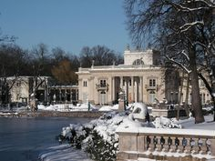 Łazienki Palace in Winter