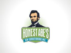 Create a logo incorporating Abraham Lincoln for a startup HVAC company by thonto08