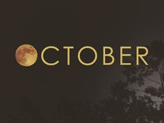 october, moon, and autumn Bild
