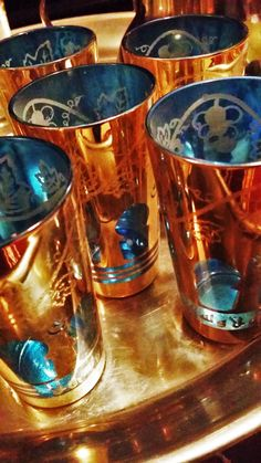 Beautiful Moroccan tea glasses are always a good idea. Enjoy the mint tea ritual with classic style.