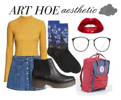 """Art Hoe Aesthetic"" by ellie-isaac ❤ liked on Polyvore featuring H&M, HOT SOX, Fjällräven and Linda Farrow"