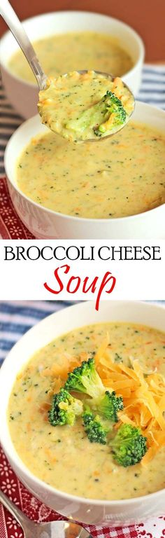Comfort in a bowl! Wanna round it out into a full meal? Serve this Homemade Panera Broccoli Cheese Soup in a bread bowl! #soup #broccoli