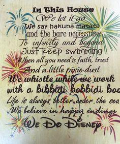 We Do Disney Wooden Sign Disney Home Decor Disney By Mistylous
