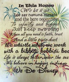 We Do Disney Wooden Sign Disney Home Decor Disney By Mistylous