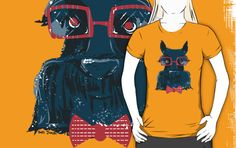 Calling all Scottish Terrier fans! by illustrator Jess Jansen - scottish terrier scottie tshirt illustration - quirky hipster scottie with glasses - available for sale on a variety of products Happy Studio, Shop Sale, Scottish Terrier, Scottie, Graphic Design Illustration, Tshirt Colors, Female Models, Illustrator, Classic T Shirts