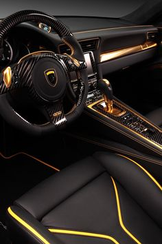 FULL THROTTLE : This yellow and black interior has its own type of flare. It can seem mysterious, creative, and sporty all at the same time.