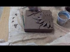 Time Lapse: Ceramic Flower Relief Tiles - YouTube