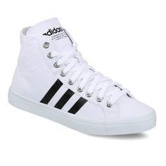 Interesting and bold contrasting overlays, these adidas Originals CourtVantage Mid shoes for men are perfect for the game on the court. Textile upper offers premium durability whereas the jagged 3-stripes and Trefoil logo on the tongue make it different from the entire league.