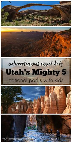 Road trip and stay in or near Utah's Mighty 5 national parks! So many adventure filled family things to do in Arches, Canyonlands, Capitol Reef, Bryce, and Zion. Visit southern Utah, a slice of heaven, and a perfect family vacation.
