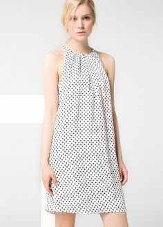 Lace panel blouse - Women | MANGO