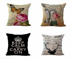 Vintage Design Rustic Sofa Cushion Pillow Cover Cases by miss-meiranne - $8.00