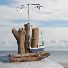Little Fishing Boat Scene | Model Tin Boat - buy the sea