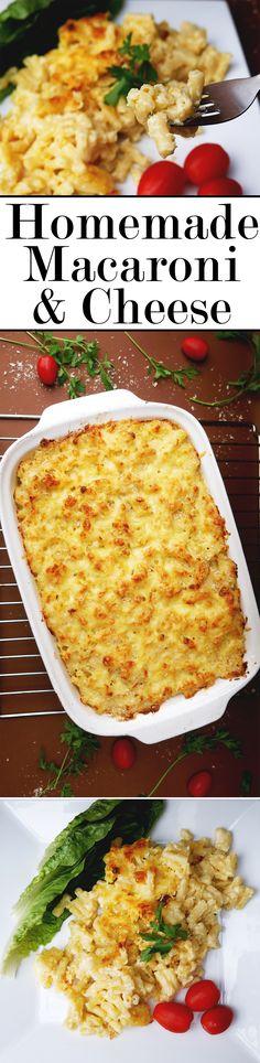 This tasty baked maraconi and cheese dish will remind you of dinners your mom used to make!