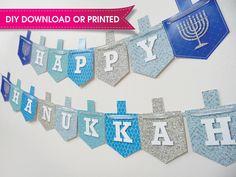 Hanukkah Banner Hanukkah Bunting Hanukkah Decor by QuillingJudaica Happy Hannukah, Hanukkah Crafts, Hanukkah Decorations, Hanukkah Lights, Diy For Kids, Crafts For Kids, Banner, Childrens Party, Holidays And Events