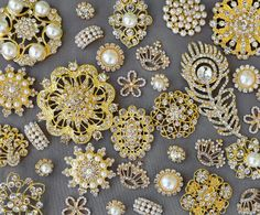 Hey, I found this really awesome Etsy listing at https://www.etsy.com/listing/209773382/sale-20-gold-assorted-rhinestone-button