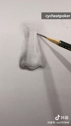 Art Drawings Beautiful, Art Drawings Sketches Simple, Pencil Art Drawings, Realistic Drawings, Sketches Of Hands, 3d Art Drawing, Nose Drawing, Painting & Drawing, Art Techniques