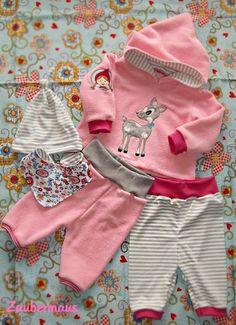 Schnittmuster Zwergenverpackung Kombi Babykleidung farbenmix Mütze Ebook