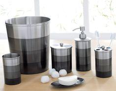 Tapis de bain hammam gris craie blanc cyrillus d co - Accessoires salle de bain gris ...