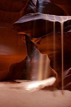 Antelope Canyon - Sandfall