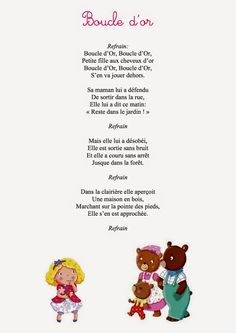 Les P'tits Bouts d'Ablain: Travail du mois de Novembre: Boucle d'or et les 3 ours French Teaching Resources, Teaching French, Measurement Kindergarten, Bears Preschool, Circle Time Songs, Goldilocks And The Three Bears, Core French, French Classroom, Petite Section