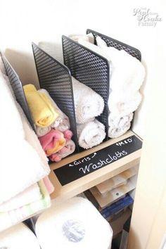 File Organizer for washcloths
