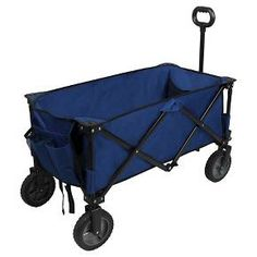 Don't worry about hauling your gear from the car to the campsite with this wagon. The durable steel frame is collapsible and folds up for easy storage. Its telescoping handle and all-terrain wheels make it easy to pull tents, bags, and other items from your car to the campsite. Also included are pockets on the outside, so you can keep your water bottle, snacks, and other items within easy reach as you move.
