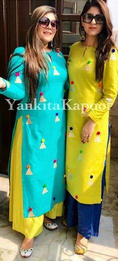 Knitting Projects For Women Fashion Outfits Ideas Patiyala Dress, Simple Kurta Designs, Simple Pakistani Dresses, Kurta Neck Design, Dress Neck Designs, Kurti Designs Party Wear, Dress Indian Style, Diy Dress, Indian Designer Wear