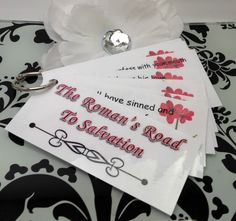 Romans Road {Scripture Memory Cards}. I like this idea for a project with our teens.