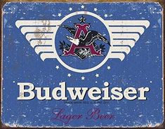 Tin Sign Anheuser Busch Budweiser Beer Man Cave / Man Cave Decor / Garage Decor / Wall Art Tin Sign Anheuser Busch Budweiser Beer Man Cave / Man Cave Decor / Garage Decor / Wall A Beer Signs, Tin Signs, Wall Signs, Lego Mario, Man Cave Wall Art, American Beer, Brew Pub, Beer Festival