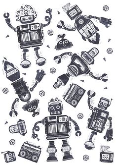 Robot Stamps on Behance