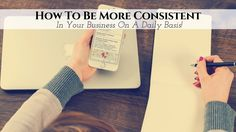 Ohhhhh……that beautiful word called 'consistency'….how we all wish we knew exactly how to be more consistent in our network marketing business… …so we can e